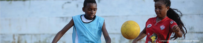 El Reto en la región hemos apoyado una iniciativa innovadora de UNICEF Brasil y la Universidad del Fútbol